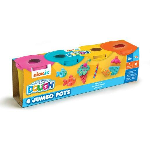 Nick Jr. Ready Steady Dough 4 Jumbo Pots (Styles Vary)