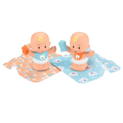 Fisher-Price Little People Snuggle Twin Figures - Bear Twins