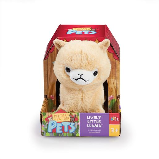 Pitter Patter Pets Lively Little Llama - Cream