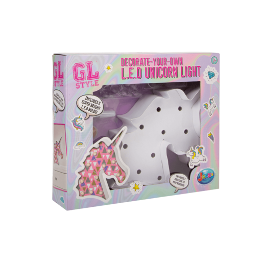 Gl Style Decorate-Your-Own L.E.D Unicorn Light
