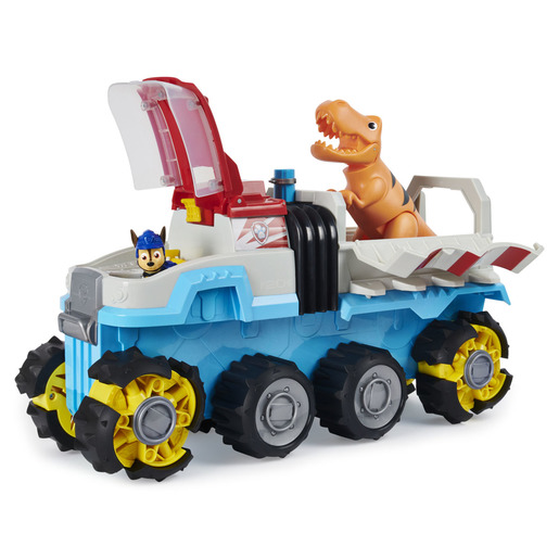 Paw Patrol Dino Rescue Dinosaur Patroller Team Vehicle with Chase and T-Rex Figures