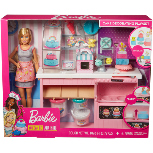 Barbie You Can Be Anything Cake Decorating Playset