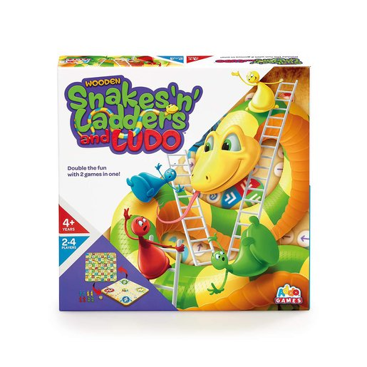 """Addo Games Wooden Snakes, Ladders & Ludo"""