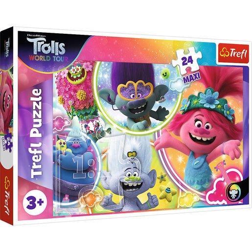 Trefl DreamWorks Trolls World Tour Maxi Puzzle - 24pcs.