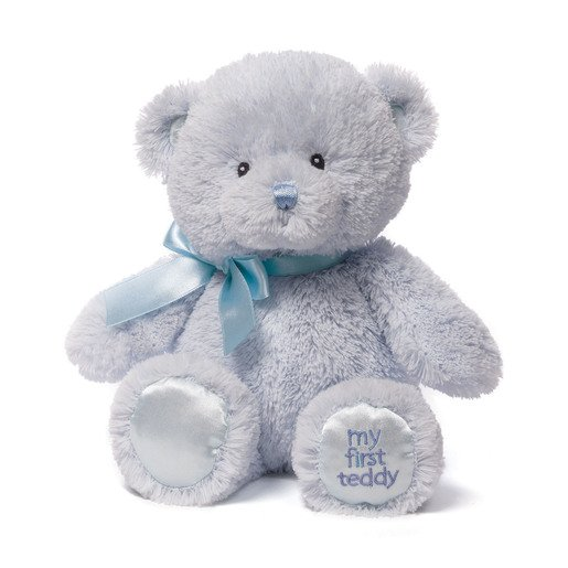 Baby GUND: My First Teddy 25 cm Plush - Blue