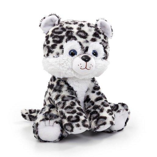 Snuggle Buddies 33cm Endangered Animals Plush Toy - Snow Leopard