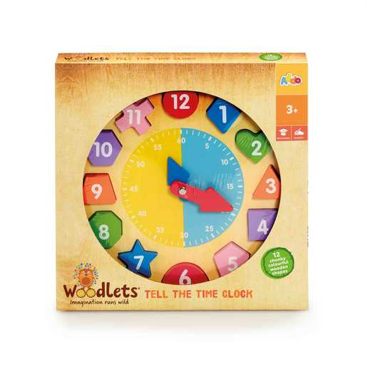 Woodlets Tell The Time Clock