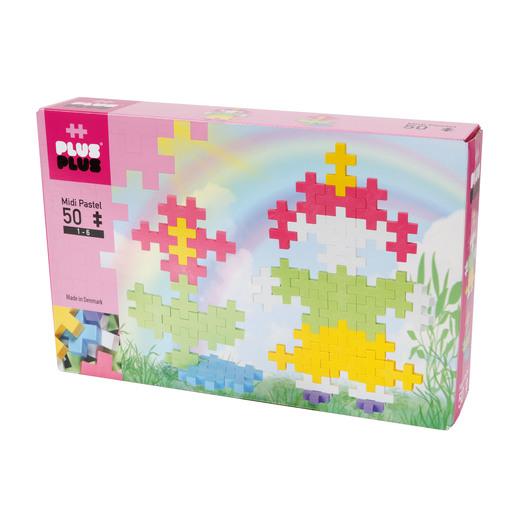 Plus-Plus - BIG Pastel Little Girl and Flower Kit