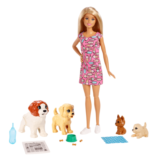 Barbie Doggy Day-care Doll with Puppy's Playset