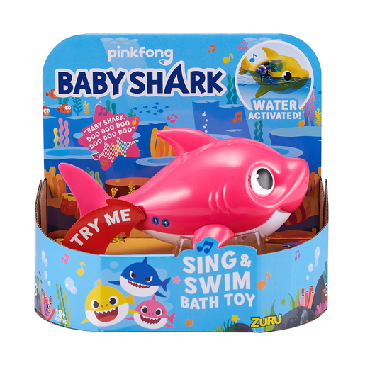 Baby Shark Sing and Swim Bath Toy - Mummy Shark By ZURU