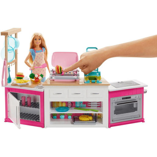 """Barbie Ultimate Kitchen with Doll, Dough, Cooking, Baking Toy Playset"""