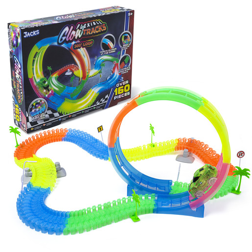 Jacks Flexible Glow Tracks 360 Loop - Over 160 Pieces