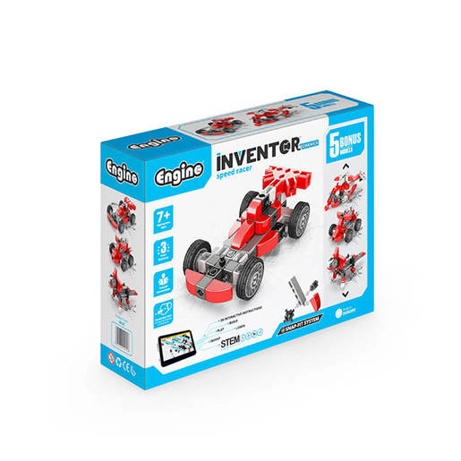 Engino Inventor Mechanics Speed Racer (5 Bonus Models)