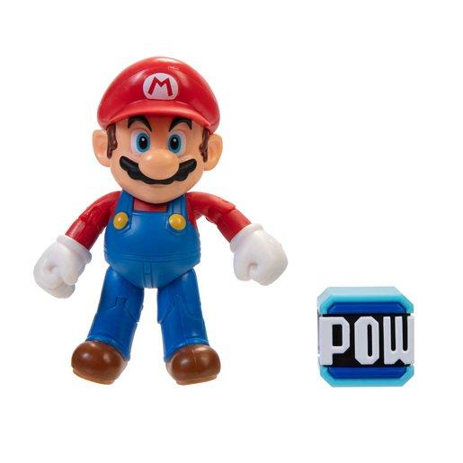 Super Mario 10cm Figure - Mario With POW Block