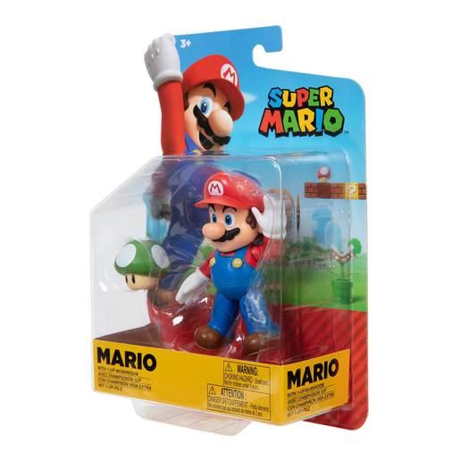 Super Mario 10cm Figure - Mario With 1 up Mushroom