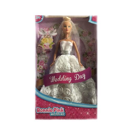 Bonnie Pink Doll - Wedding Dress