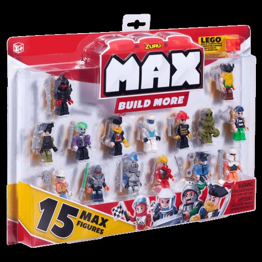 MAX Build More Mini Figure Set - 15 Figures By ZURU (Styles Vary)