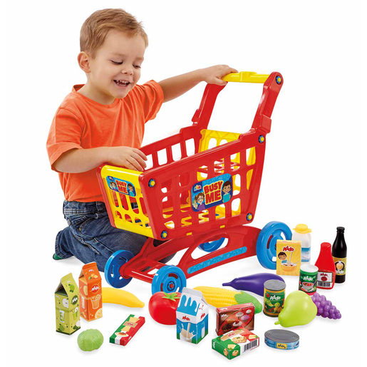 Busy Me My Shopping Trolley & Pretend Food