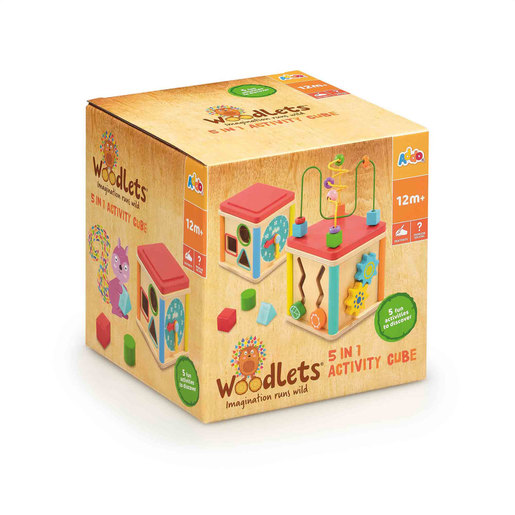 Woodlets 5 in 1 Activity Cube
