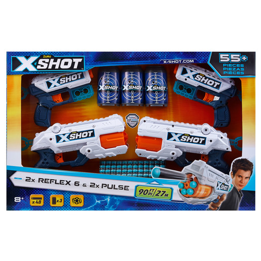X-Shot 6 Foam Dart Blaster - 48 Darts 3 Cans by ZURU