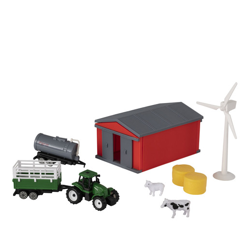 Country Life - Farmyard Tractor & Figures Playset