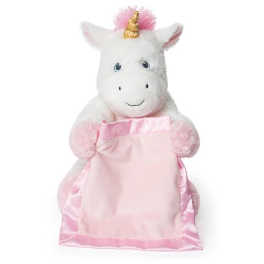 Gund Interactive Peek-A-Boo Unicorn Plush & Baby Blanket