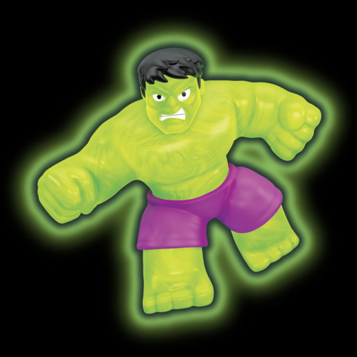 Heroes Of Goo Jit Zu Figure - Marvel Glow Hulk
