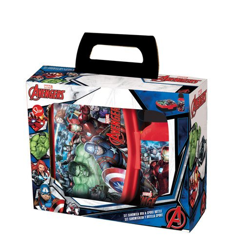 Marvel Avengers Lunch Box And Water Bottle