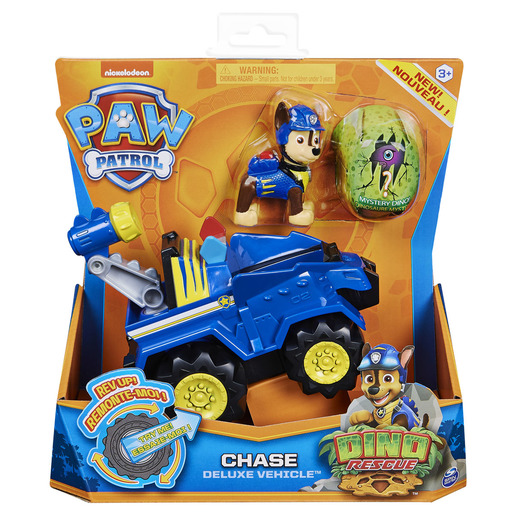 Paw Patrol Dino Rescue Deluxe Vehicle and Mystery Dinosaur - Chase