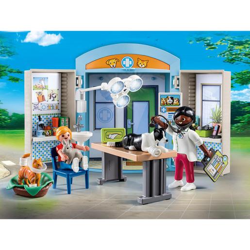 Playmobil 70309 City Life Vet Clinic Play Box