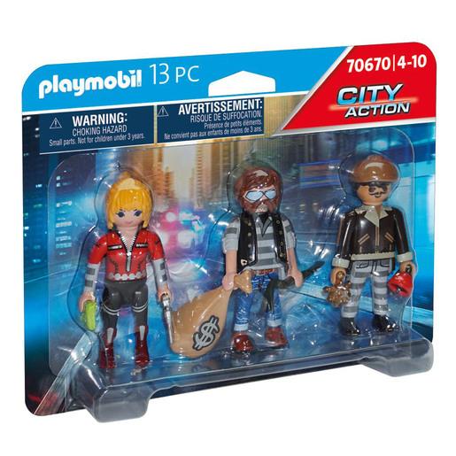 Playmobil 70670 City Action Police Thief 3 Figure Set
