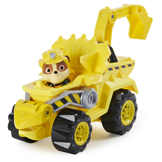 Paw Patrol Dino Rescue Deluxe Vehicle and Mystery Dinosaur - Rubble