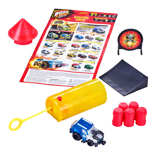 Boom City Racers Starter Pack with Exclusive Wheelie Car