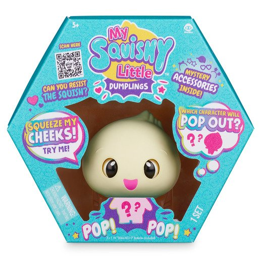 My Squishy Little Dumplings Interactive Toy - Dip (Turquoise)