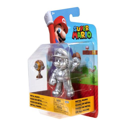Super Mario 4' Figure - Metal Mario With Trophy