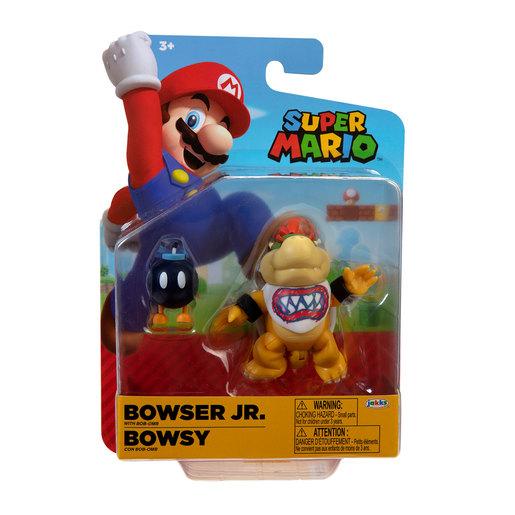 Super Mario 4' Figure - Bowser Jr With Bob-Omb