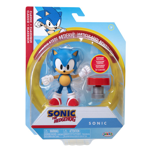 Sonic 10cm Figures -Classic Sonic With Spring