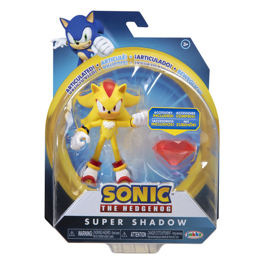 Sonic 10cm Figures -Modern Super Shadow With Chaos Emerald