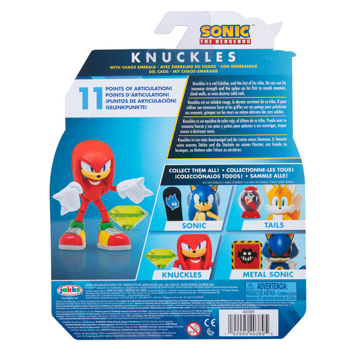 Sonic 10cm Figures - Modern Knuckles With Green Chaos Emerald