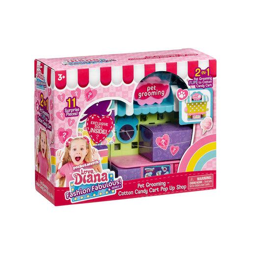 Love Diana: 3.5' Doll & Pet Grooming Playset