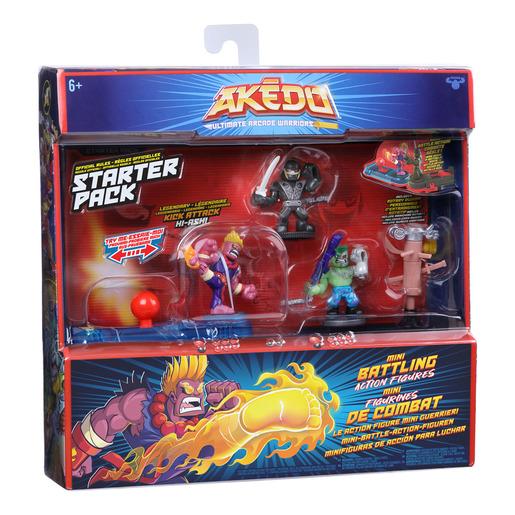 Akedo Ultimate Arcade Warriors Starter Pack - Legendary Kick Attack 3.5' Action Figures Set
