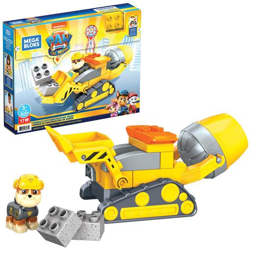 Mega Bloks Paw Patrol: The Movie - Rubble's City Construction Truck Set