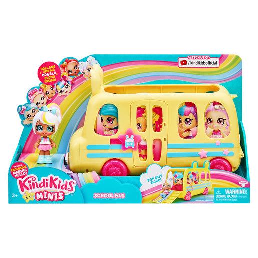 Kindi Kids Minis School Bus & Bobble Head Figurine