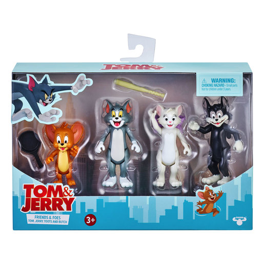 """""""Tom & Jerry Figure 4-Pack Friends & Foes: Tom, Jerry, Toots& Butch"""""""